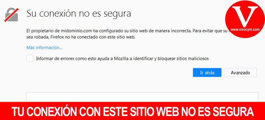 Porque Google marca mi sitio web como NO SEGURO