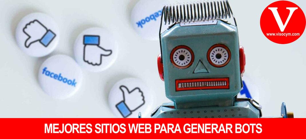 Mejores sitios web para generar bots en redes sociales
