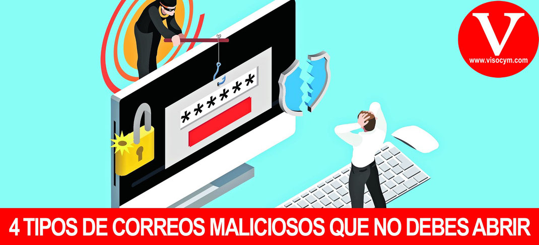 TIPOS DE EMAIL MALICIOSOS QUE DEBES ELIMINAR