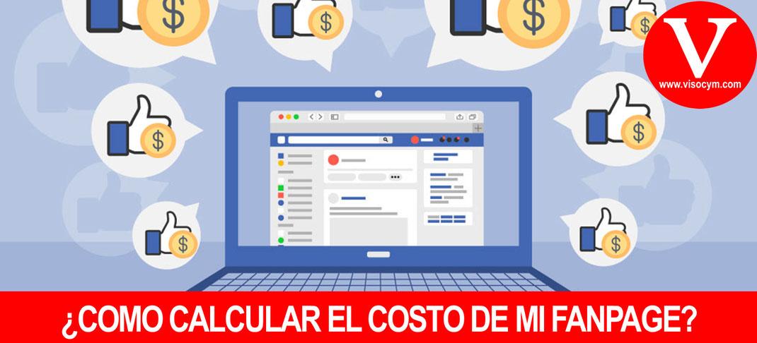 Como calcular el costo de mi fan page de facebook