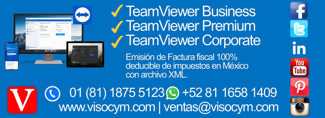 CARACTERÍSTICAS TEAMVIEWER 13 BUSINESS