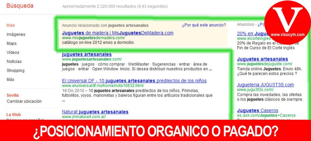 Diferencia de posicionamiento orgánico y no orgánico de Google