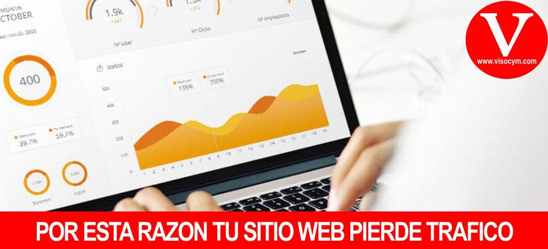 POR ESTA RAZÓN TU SITIO WEB PIERDE TRAFICO
