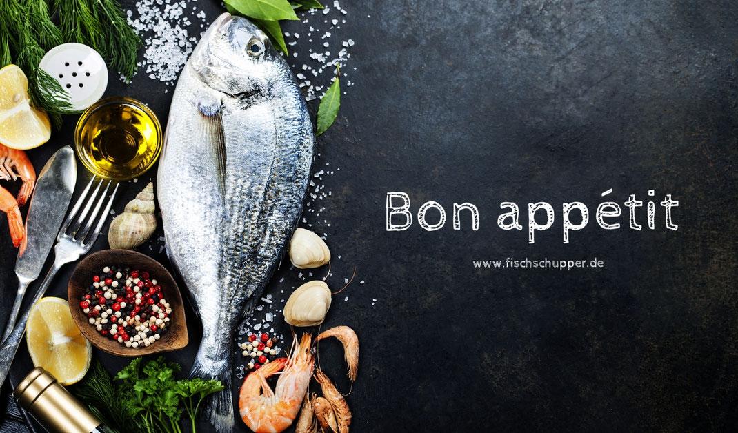 Fisch entschuppen, Angler, Fisch zubereiten, Filetieren, Restaurant
