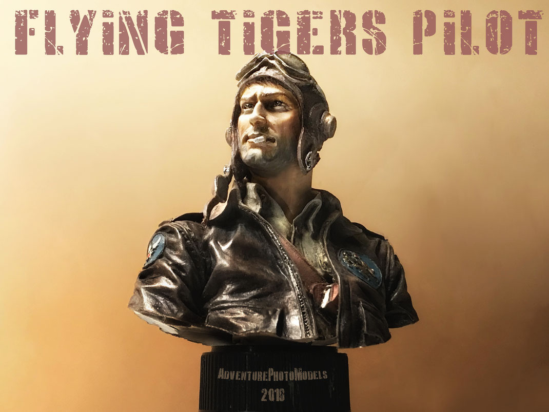 Young Miniatures resin kit 1:10 scale model - Flying Tigers Pilot