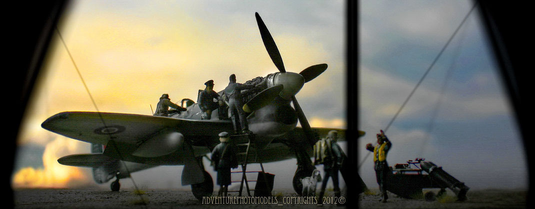 Hawker Tempest MkV - EDUARD kit scale 1:48 - FULL CUSTOMIZED - F/O B.F. Miller, No 501 Squadron, Bradwell Bay, October 1944