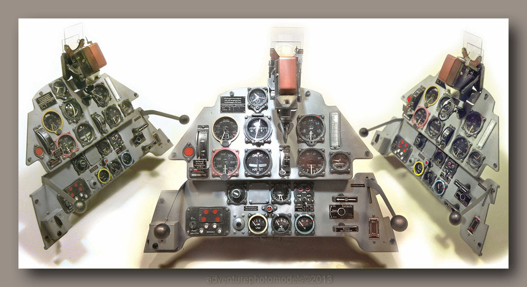 "Bf 109E Instrument Panel - Eduard Kit ""Limited Edition"" 1/4 scale model"
