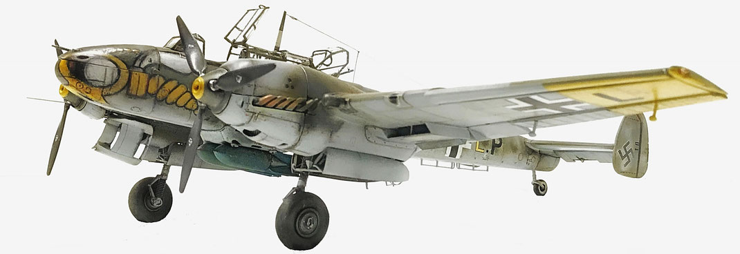 "messerschmitt Bf 110 C/7  ""zerstörer"" - dragon kit "" wing tech series""  1:32 scale model"