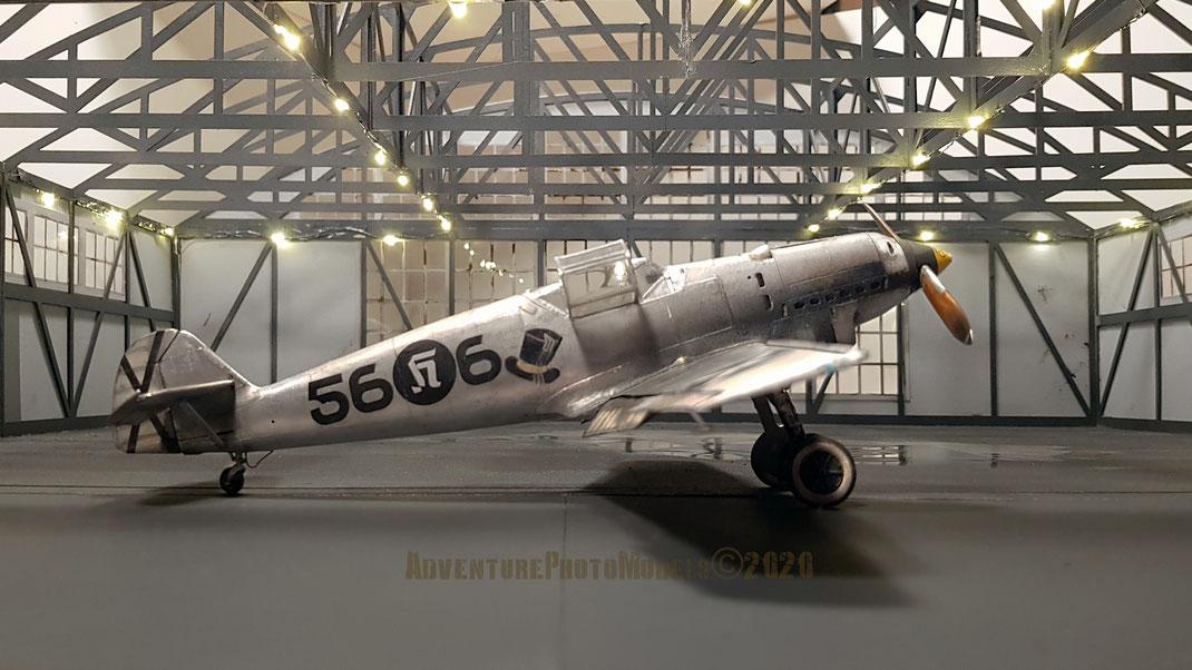 "MWP Project: ""Berta in Spain"" : Messerschmitt Bf 109 B (Early) - Eduard Me 109 E/1 based  1/32 scale model & AlleyCat resin conversion set (Me B,C,D Spanish Civil War)  foto a grandezza reale ca."