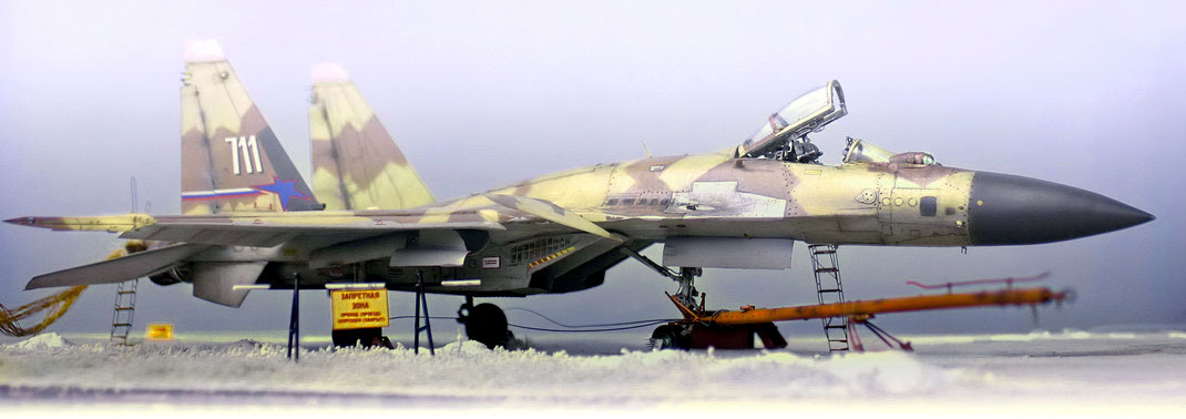"Sukhoi Su 37  F ( Cy-27)  code name ""Terminator"" -  WindMark resin & pe conversion set - 1:48 Academy kit based"