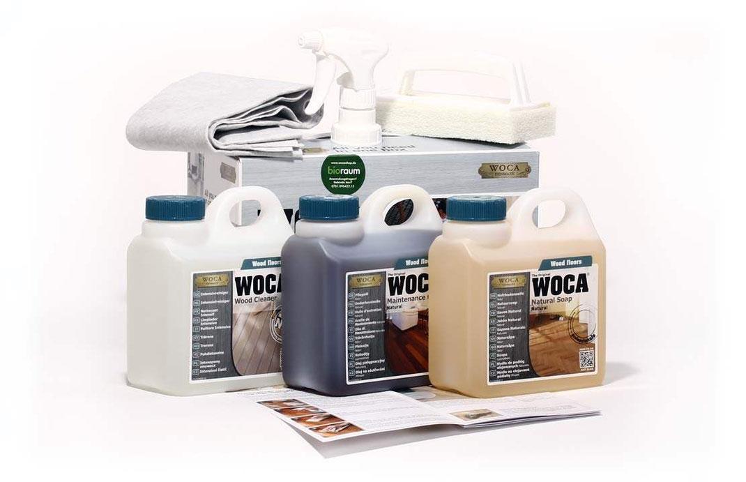 Woca Pflege Set für geölte Böden mit Pflegeanleitung