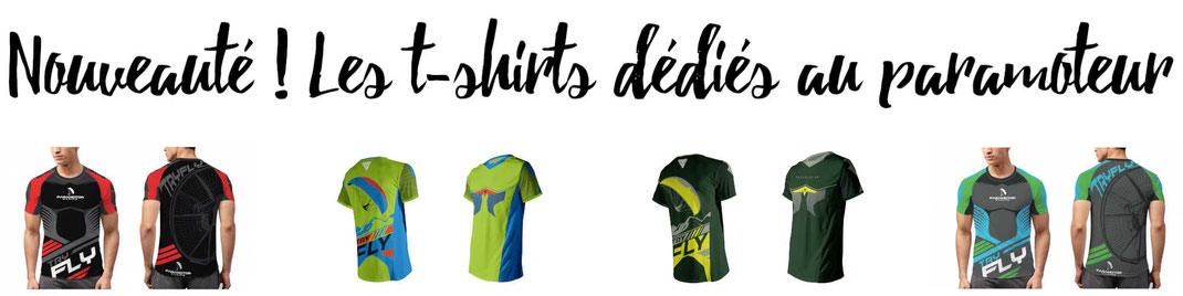 Les t-shirts dédiés au paramotoristes