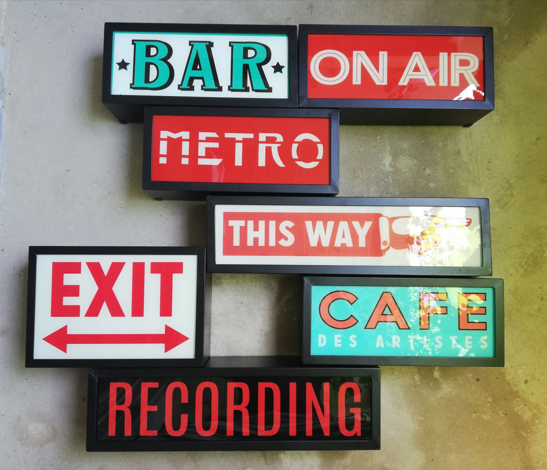 Vintage Lightbox Nostalgie Leuchtkasten Retro Leuchtdisplays Bar Cafe Recording ON AIR Leuchtboxen