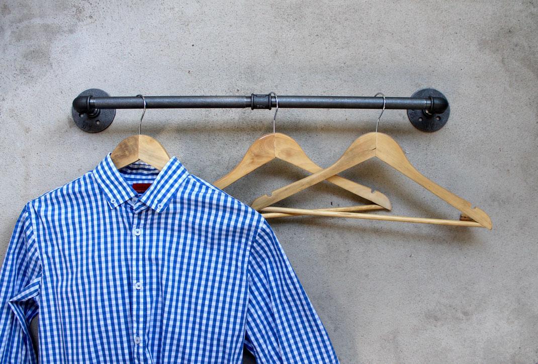 Vintage Garderobenstange Wandgarderobe aus Rohren Rohrgarderobe Loft Garderobe Industrial Design Wandhaken Industrie Wandleiste