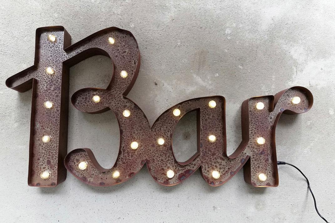 BAR Leuchtschrift