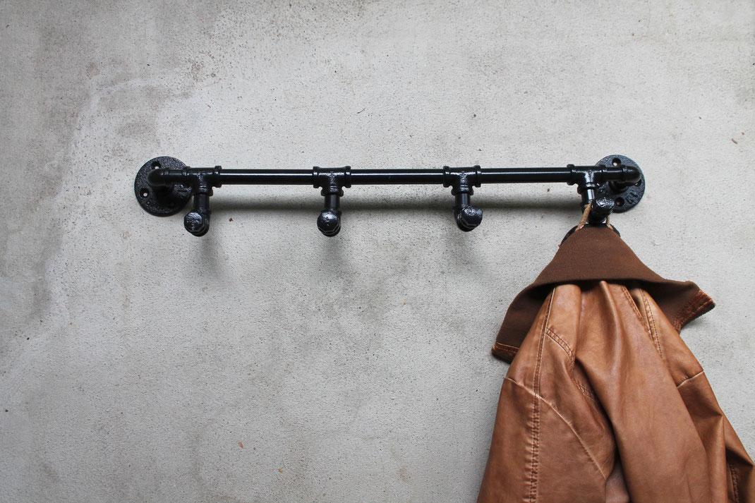Vintage Wandhaken Loft Wandgarderobe Kleiderhaken Eisen Kleiderstange Garderobe Eisenrohre Wandhaken Rohrhaken Industrie Panel Rohrgarderobe