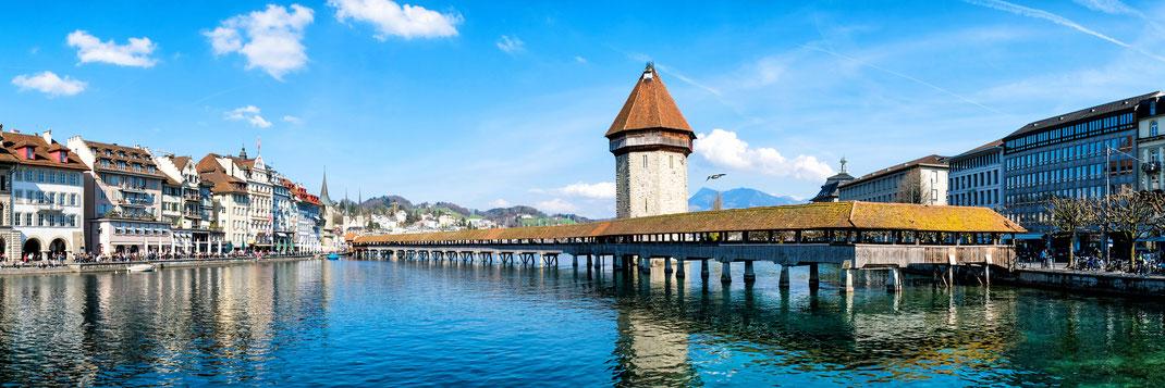 Auch für die SSO Luzern ein wichtiges Wahrzeichen: Die Luzerner Kapellbrücke ©sahachat - stock.adobe.com