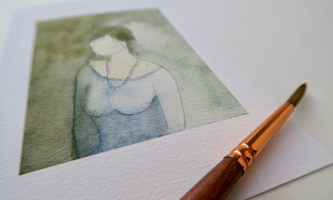 aquarelle, miniature, aquarelle miniature, dorothée piatek, portrait, visage, homme, femme,