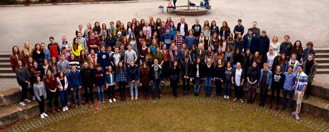 Bild mit allen Mitwirkenden des Musicals.