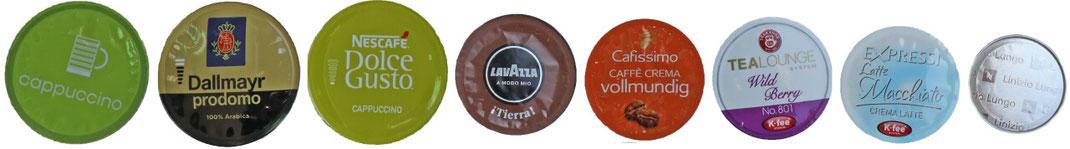 Kaffeekapseln und Teekapseln für Nespresso, Cafissimo, Lavazza und Dolce Gusto