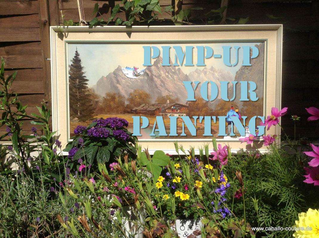 Upcycling; Bild; Zugspitze; Caballo Couture; Annapurna; Nepal; Kreativ; Idee Upcycling; alte Bilder upcyceln; aus alt mach neu