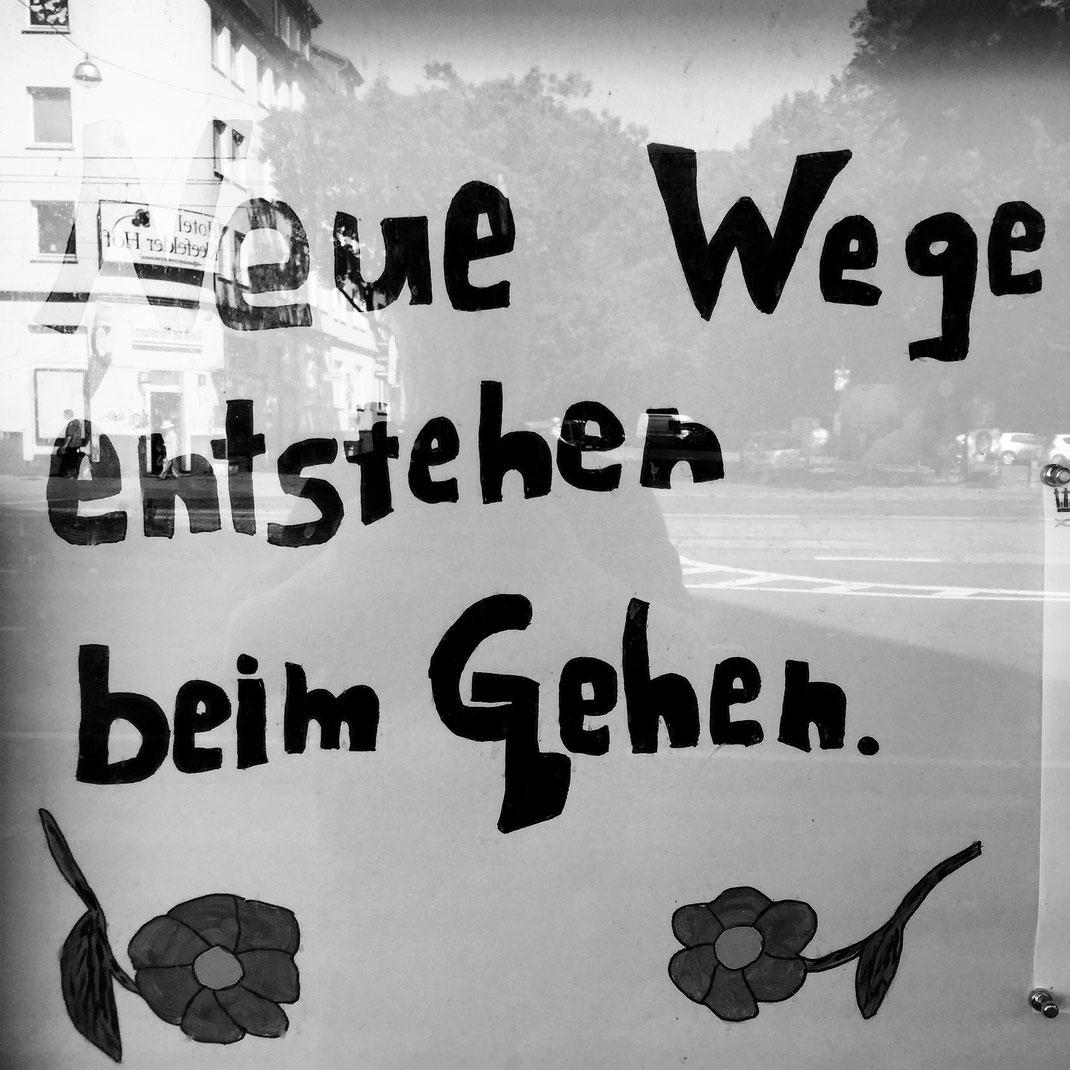 28.08.2016 Neue Wege entstehen beim Gehen.