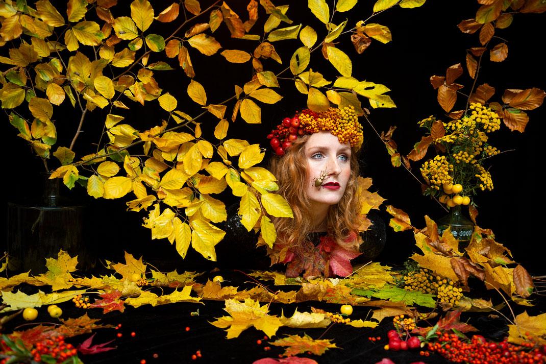 """October III"", Stilllife with Selfportrait, 2020, Belgium"