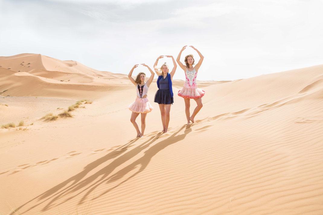 Ballerines dans le désert, Nov. 2016, Morocco