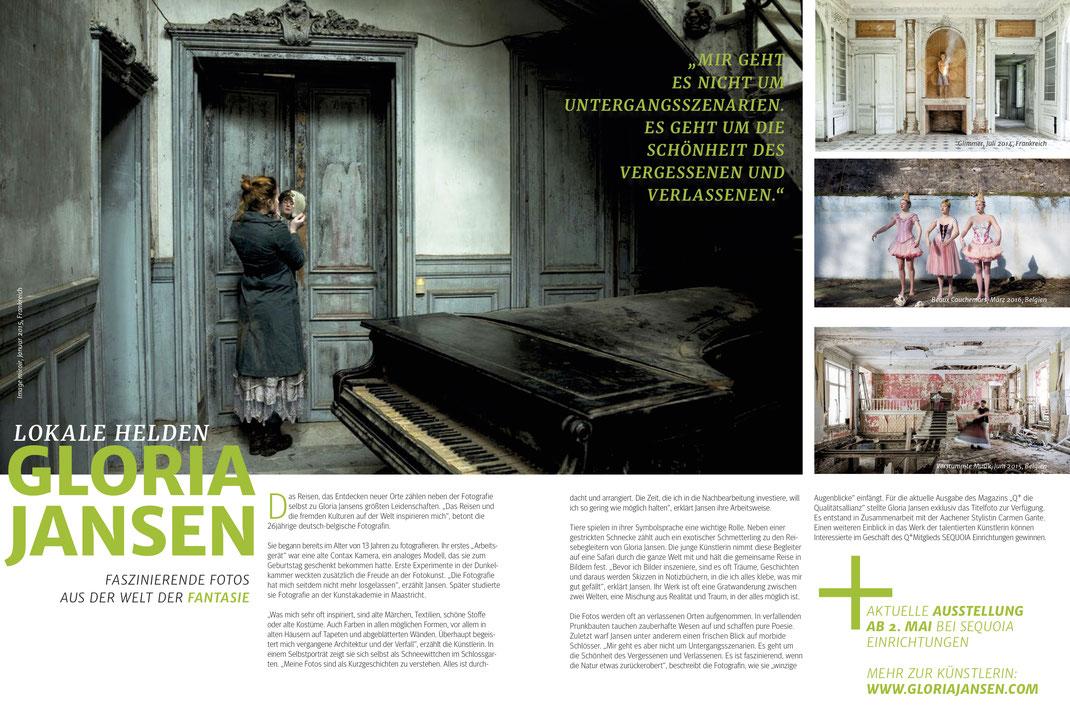 Titelfoto & Artikel im Q+ Magazin, 1.2017, Qualitätsallianz von Aachen