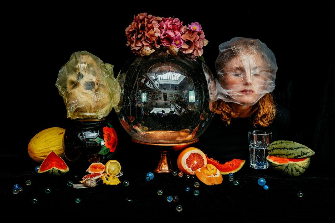 """August"", Stilllife with Selfportrait, August 2020, Belgium"