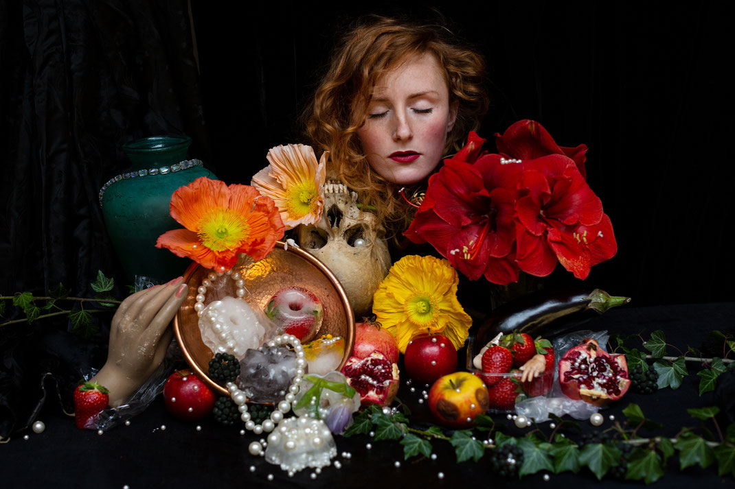 """March"", Stilllife with Selfportrait, Mars 2020, Belgium"