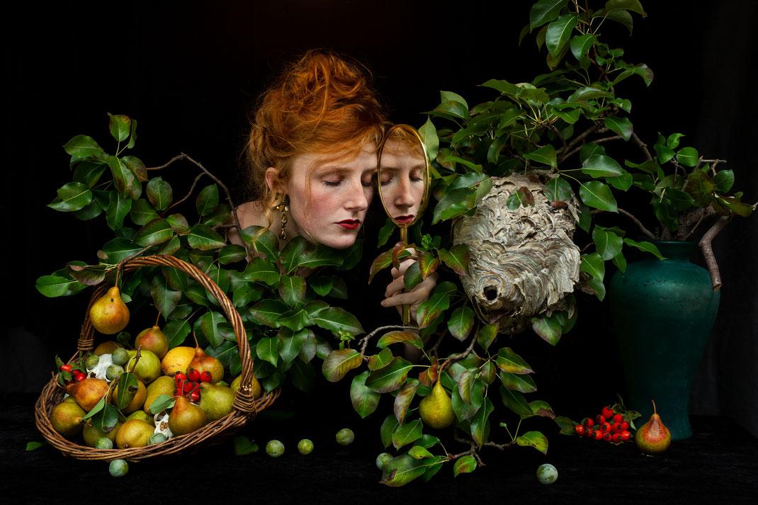 """""""September"""", Stilllife with Selfportrait, 2020, Belgium"""