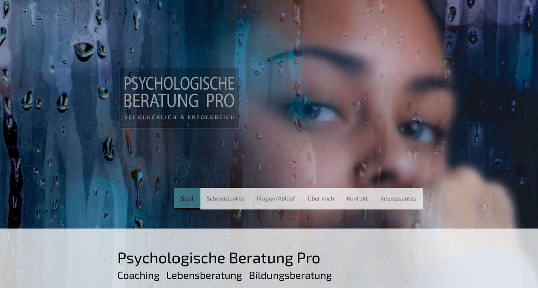QuickWebDesign - Galerie Webseiten - Psychologische Beratung Pro