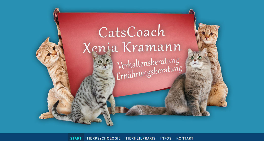 QuickWebDesign - Galerie Webdesign - CatsCoach Xenia Kramann