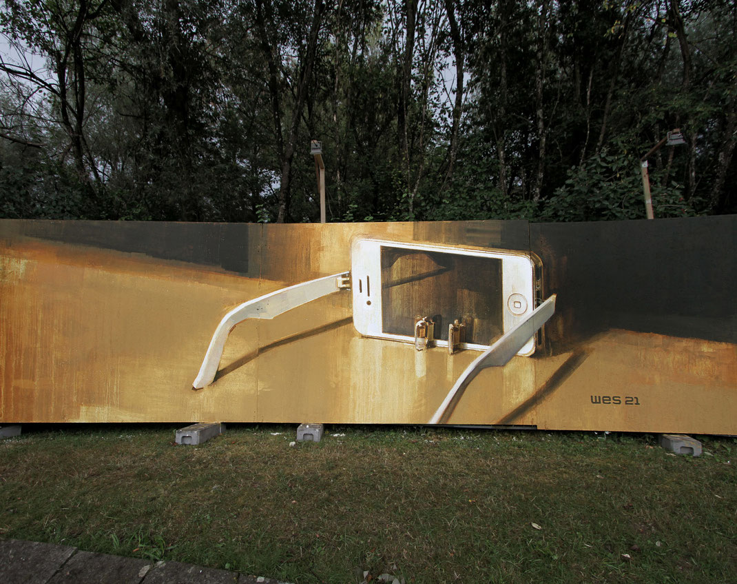 ANAMORPHOSIS Wes21 x Onur Schwarzmaler Optical Illusion