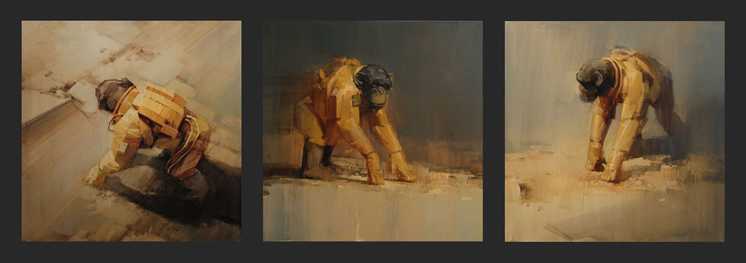EXPERIMENT / Wes21 / Schwarzmaler / Remo Lienhard / oilpainting / 2020