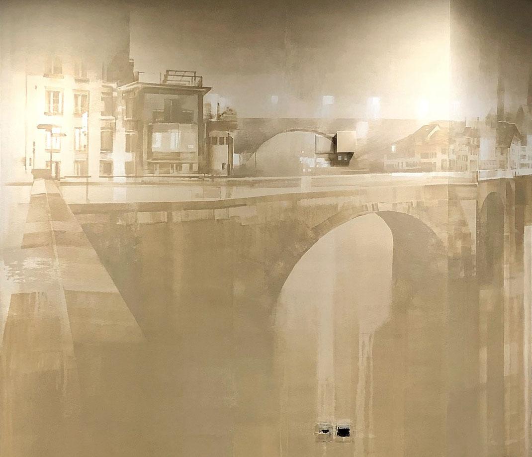 FLOATING / WES 21 / Wes21 / Remo Lienhard / Schwarzmaler / Mural / Kunst am Bau