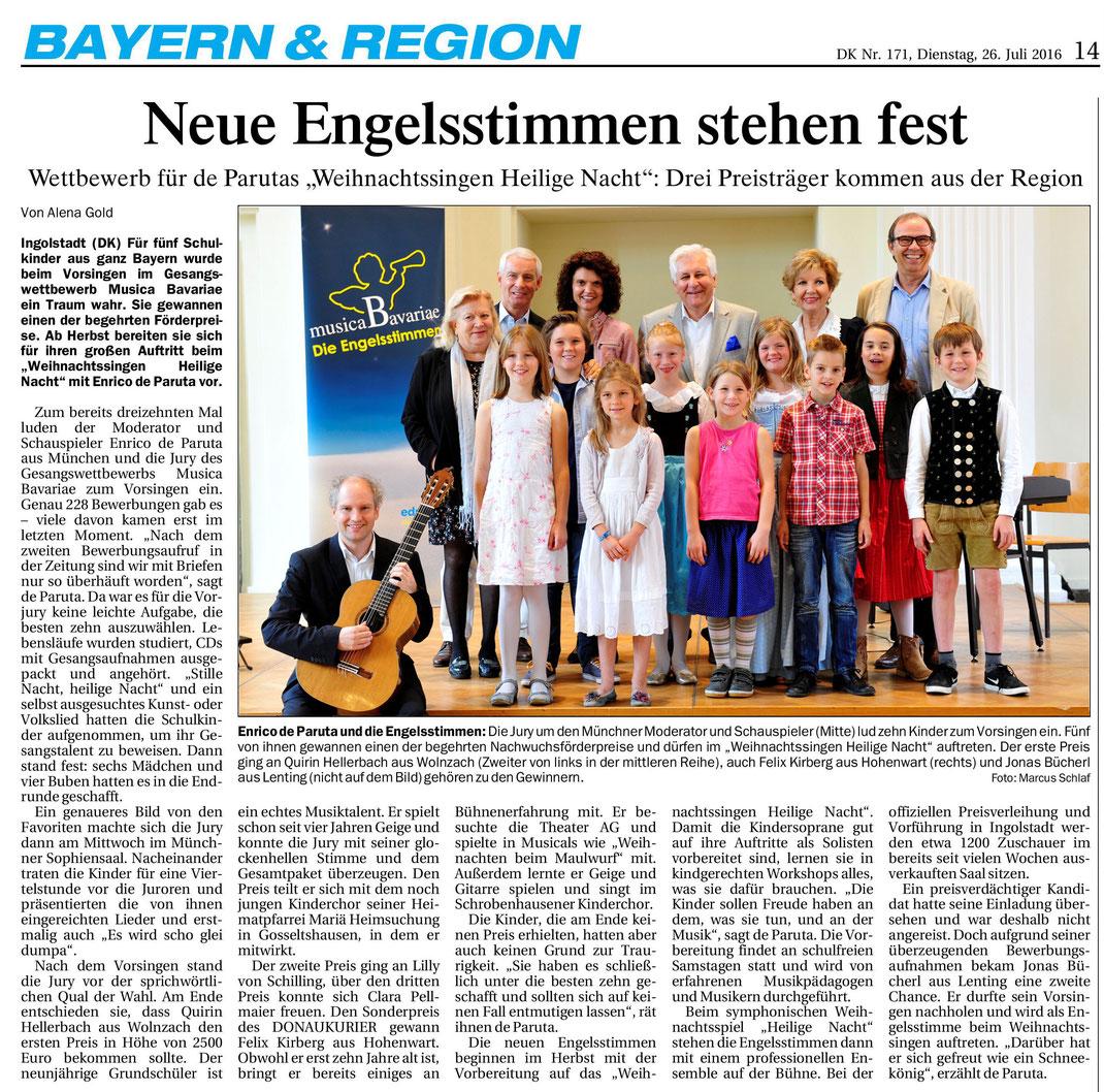 Donaukurier gesamt v. 26.7.2016