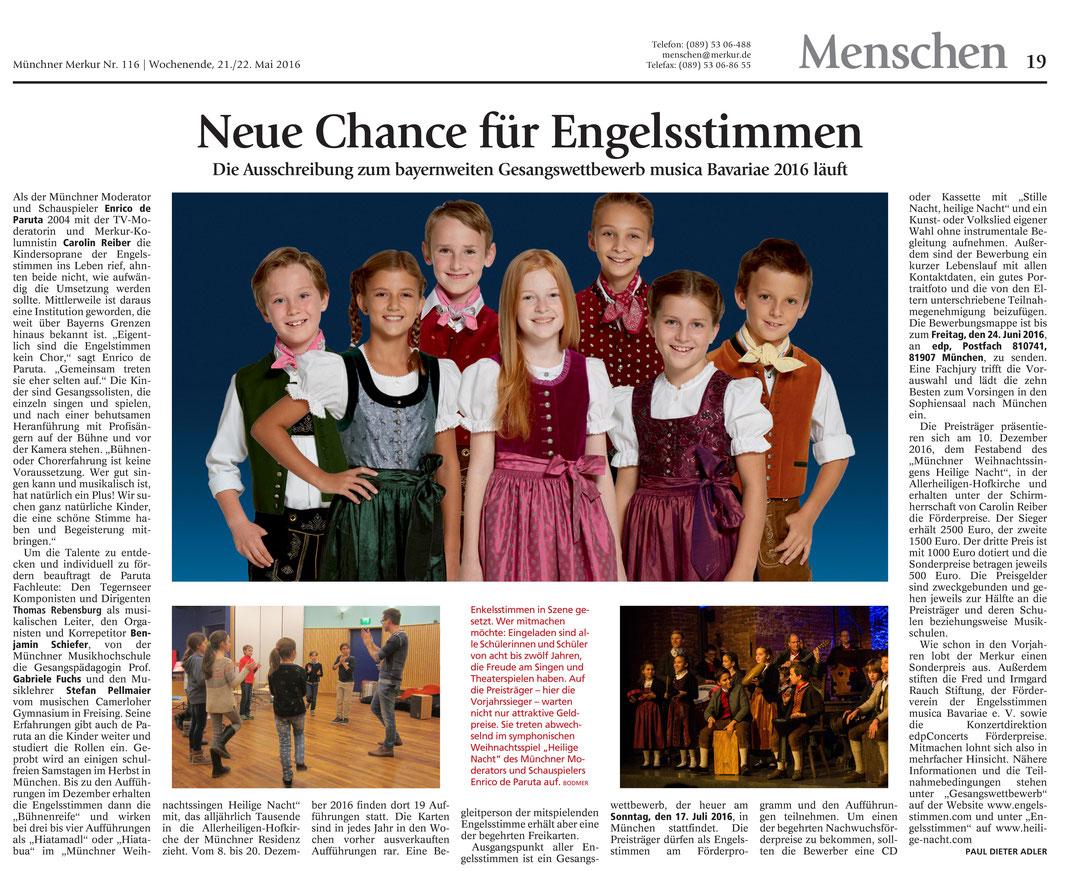 Münchner Merkur gesamt v. 21./22.5.2016