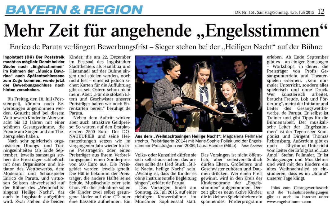 Donaukurier, Gesamtausgabe vom 4./5.7.2015