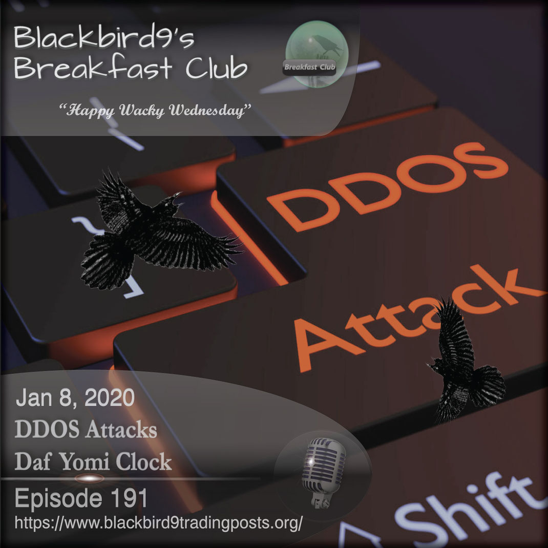 DDOS Attacks Daf Yomi Clock - Blackbird9