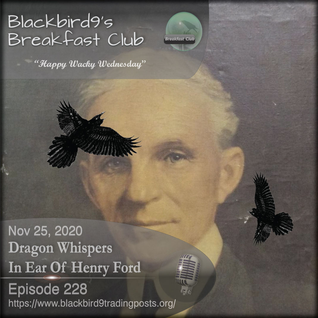 Dragon Whispers In Ear Of Henry Ford - Blackbird9
