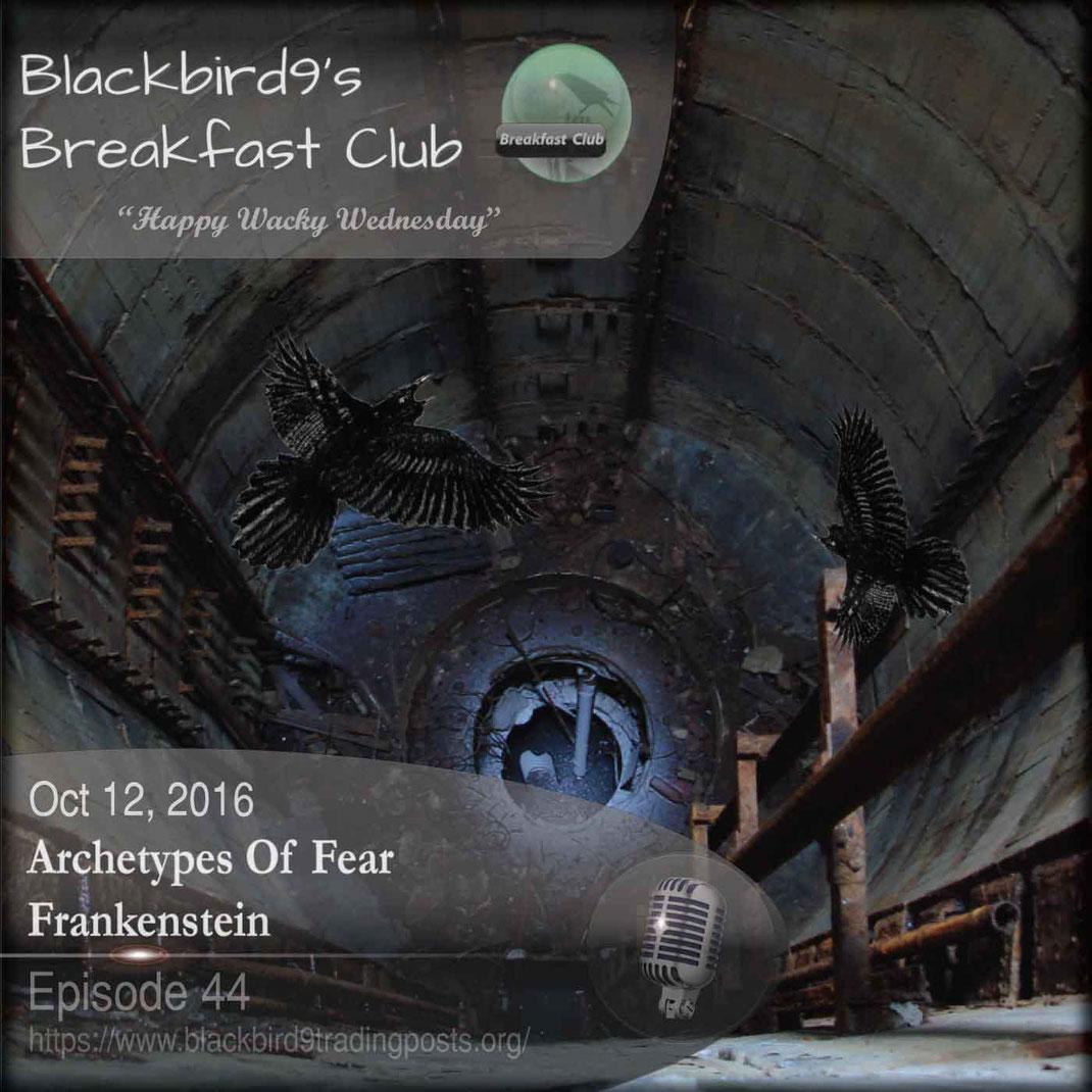 Blackbird9's Archetypes of Fear Podcast covering Frankenstein - October 12 2016