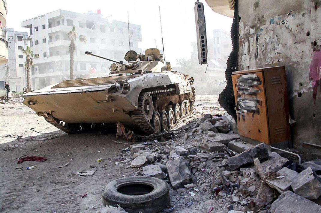S'il perd en puissance explosive, le 30 mm est particulièrement adapté aux combats urbains