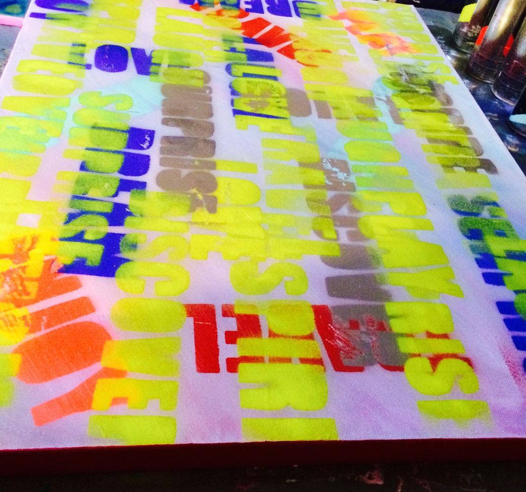 willkunst beim Malen