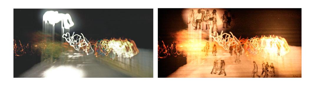 Leuchtobjekt ligt lightobject design Zeichnung Foto beleuchtug weihnachten shopping tolles geschenk christmas shopping present Katharina Mörth Kunst modern Art modern