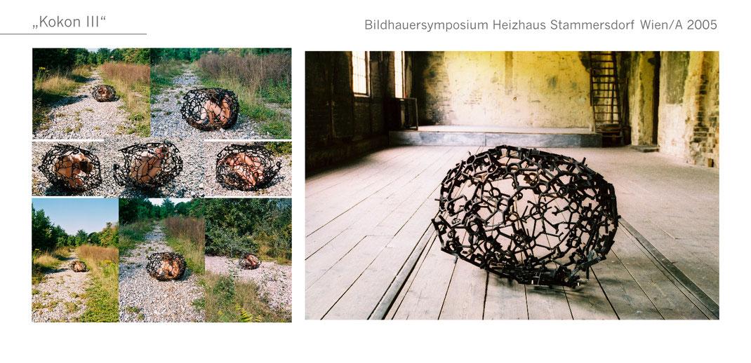 Kokon Gartenobjekt Garten Skulptur metal Metall Katharina Mörth Skulptur Sculpture moderne Kunst Art