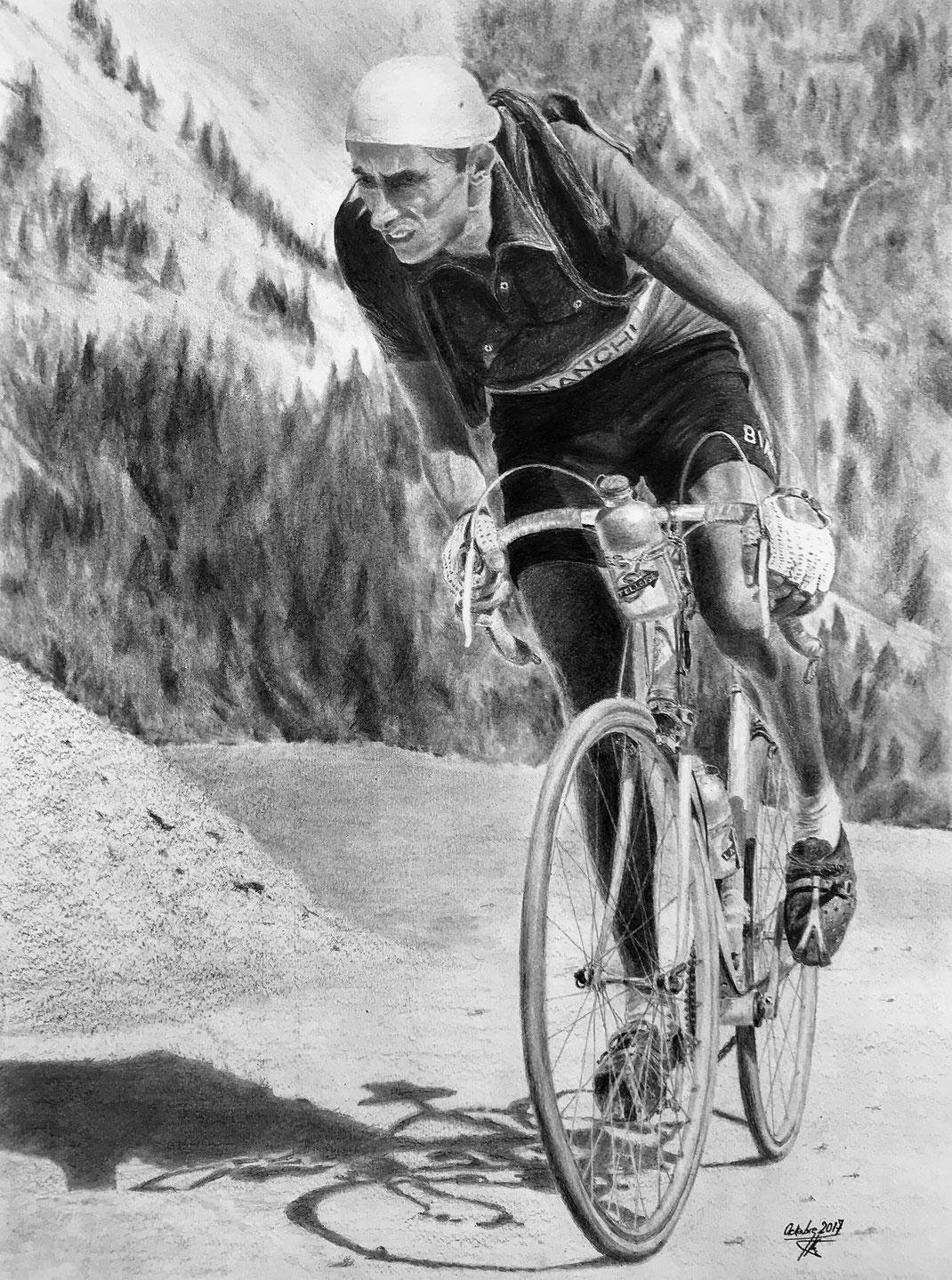 Fausto Coppi dans l'Izoard