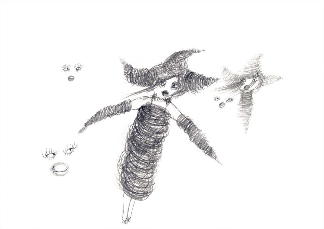 Dolly, 2007, Bleistift auf Papier, 59,4 x 42 cm