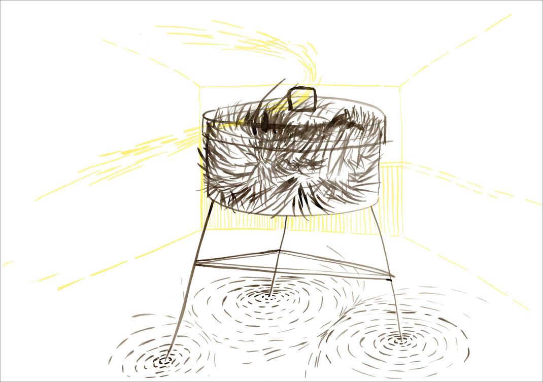Fuchsbox, 2006, Tusche und Ecoline auf Papier, 59,4 x 42 cm